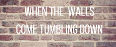 wall tumbles down